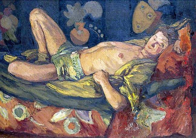 Grant, Duncan, 1885-1978; Paul Roche Reclining
