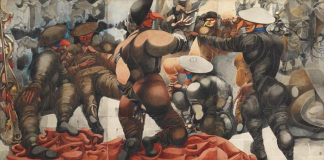Soldiers at Rye 1941 by Edward Burra 1905-1976