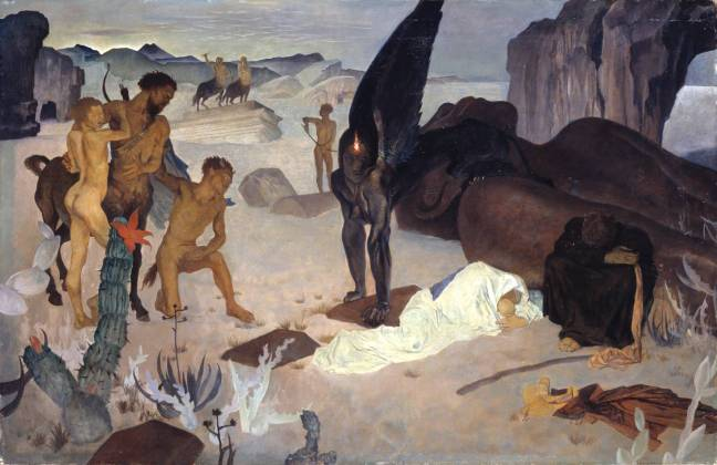 Repose on the Flight into Egypt 1922 by Glyn Warren Philpot 1884-1937