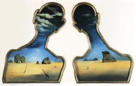 Salvador Dali, 'Couple with Their Heads Full of Clouds'