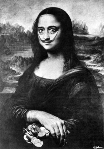 Philippe Halsman, 'Dali Mona Lisa'